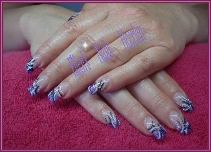 Purple met zwart/witte stripes en dots