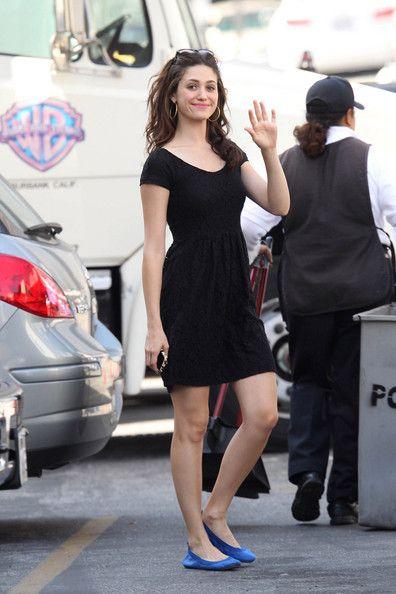 Emmy Rossum - Emmy Rossum on the Set of 'Shameless' in LA