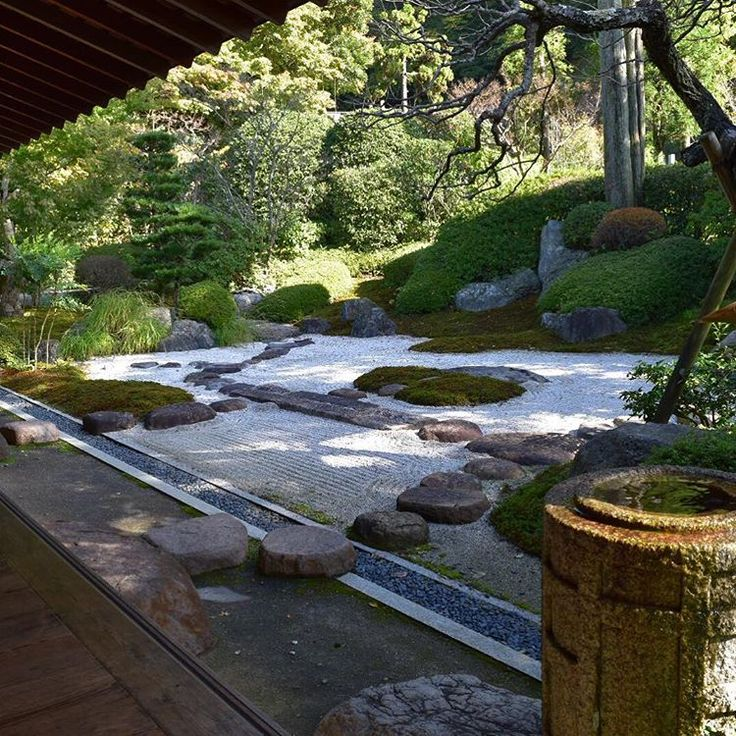 喜泉庵から見える枯山水の庭園です。他に参拝客がおらず、暫くこの景色を独り占めしちゃいました