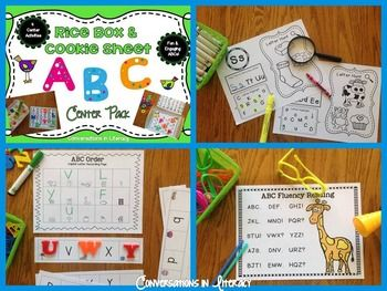 Rice Box & Cookie Sheet ABC Center Pack