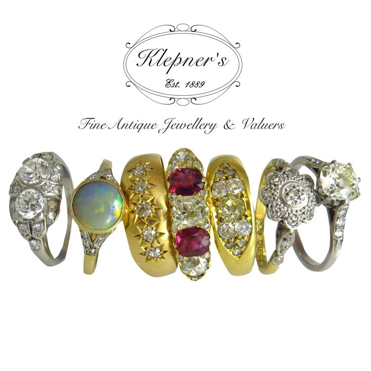 A beautiful array of Antique rings