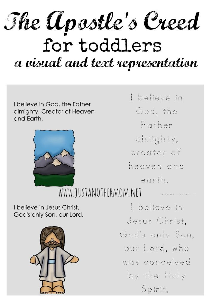 apostles creed free printable and toddlers on pinterest