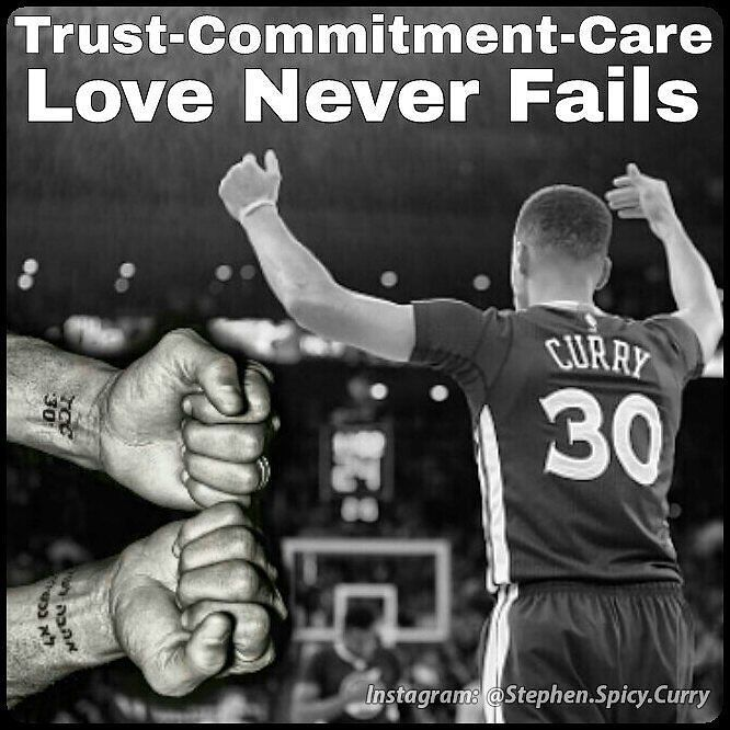 """You may have noticed Stephen Curry has his wrists tattooed? But what's it all mean? His left wrist says """"TCC 30"""" meaning Trust-Commitment-Care (Davidson College's basketball program code of ethics) and 30 is his and his dad's player number. The Hebrew writing on his right wrist means Love Never Fails. It comes from 1 Corinthians 13:8 in the New Testament and Ayesha has a tattoo of it as well. As you can see Steph's way more than just an amazing baller! #respect @stephencurrry30 @ayeshacurry…"""