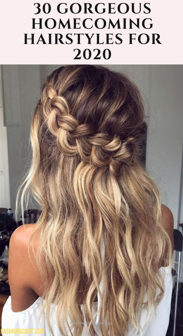 30 Gorgeous Homecoming Hairstyles For 2021 Hair Styles Homecoming Hairstyles Thick Hair Styles