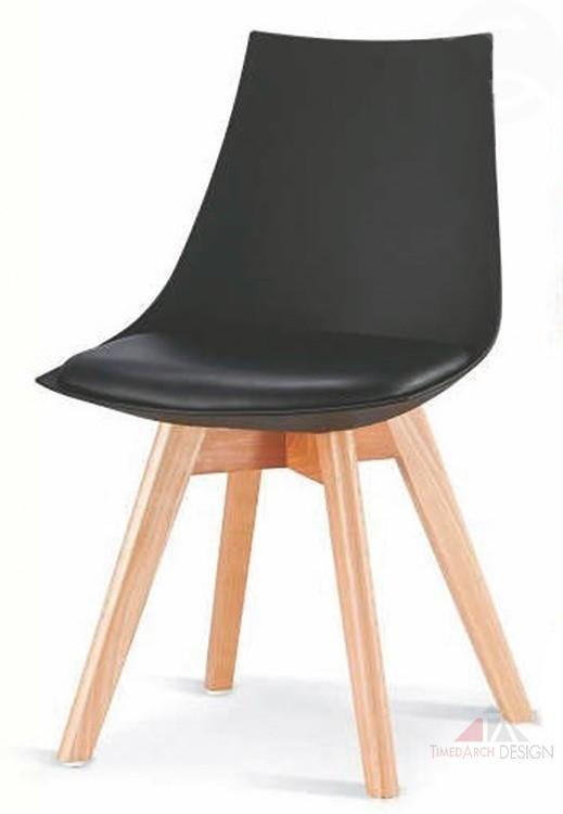 Jídelní židle DELIS buk / černý plast