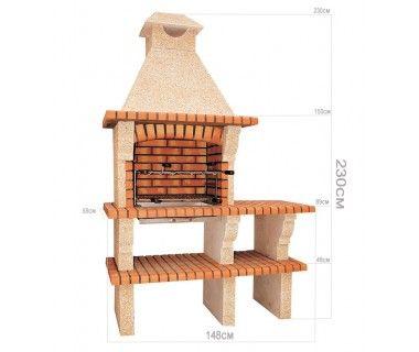 barbecues en brique rouge avec foyer acier et grilles. Black Bedroom Furniture Sets. Home Design Ideas