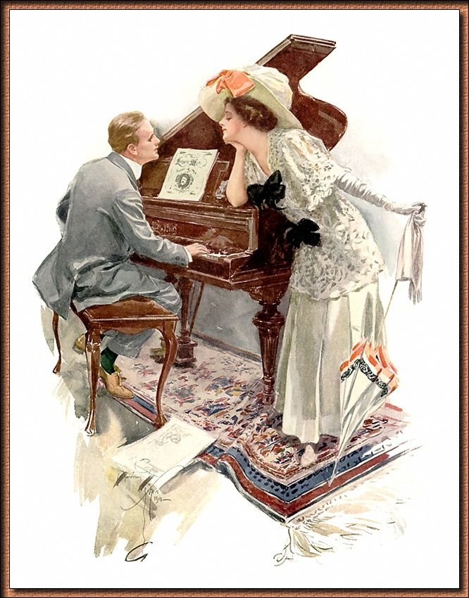 "Cartoline ""Vintage"" 96c9a2268350c25f15bfc18c850570de--gibson-girl-art-oil"