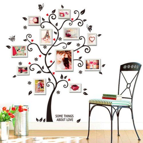 Elegant Details zu Wandaufkleber Baum Wandtattoo Fotobaum Familenbaum Wandsticker NEU SCHNELL