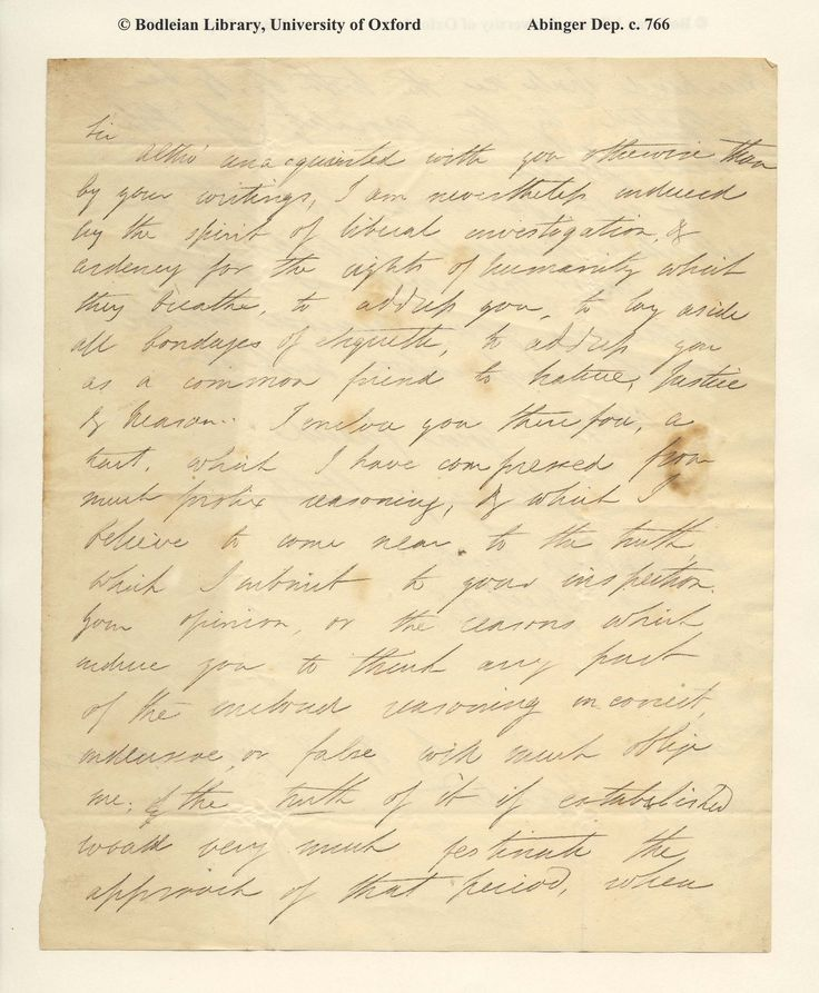 """""""Jennyngs Stukeley [Percy Bysshe Shelley] to [William Godwin] – [Spoof letter] enclosing a heart full of reasoning"""" Source: Abinger Collection, Bodley Library, online ar…"""