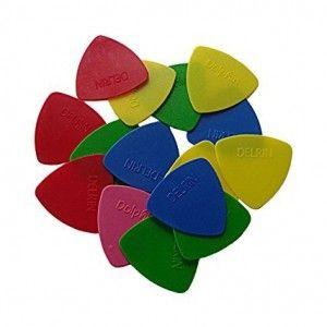 10-Picks-Delrin-Triangular-Guitar-Picks-Random-Color-by-SG-Musical-0