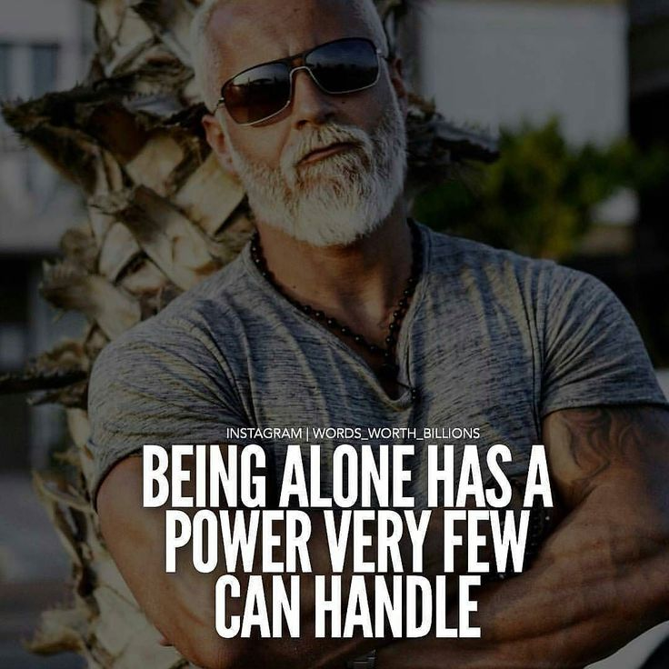 Being alone....