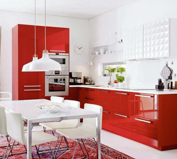 1000+ ideas about Küche Rot Hochglanz on Pinterest