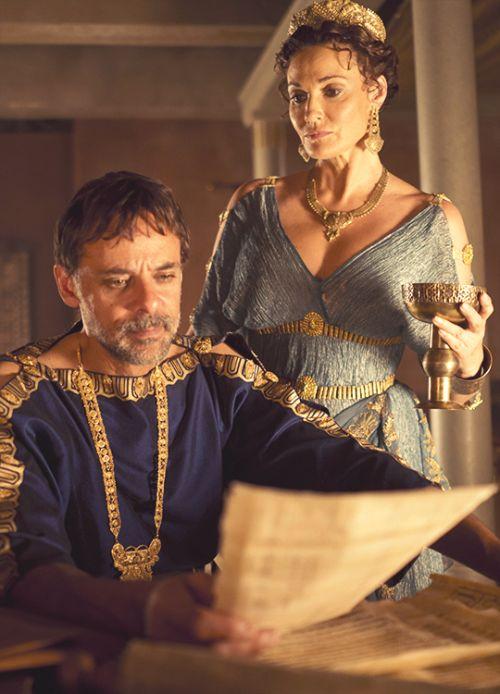 Alexander Siddig &Sarah Parish in 'Atlantis' (2013). x