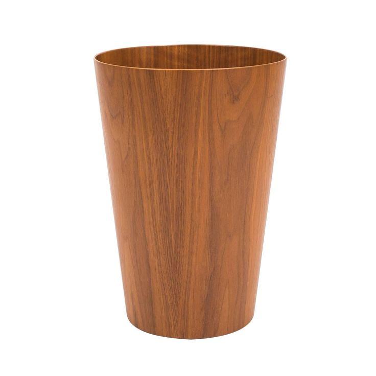Tall Scandinavian Modern Teak Wastebasket by Rainbow Wood Products