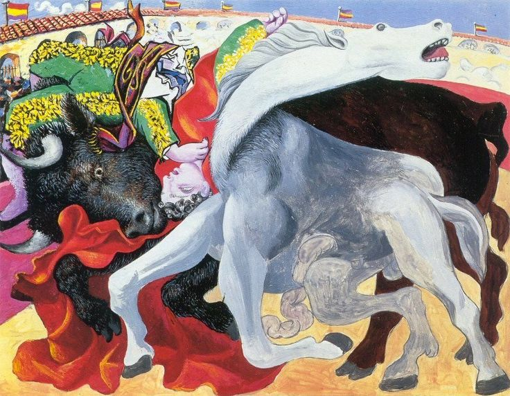 "Pablo Picasso, ""Corrida, La Mort du Torero"", 1933"