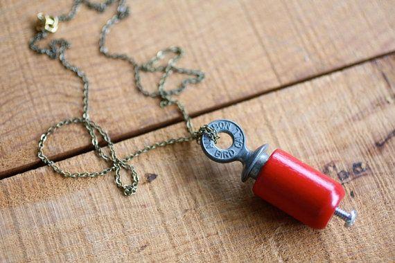 Audubon Bird Call Necklace by ChristineDomanic on Etsy, $36.00
