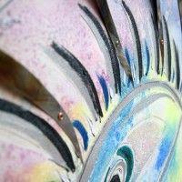 www.alicefagnocchi.it #metal #steel #iridescent #quadro #fantasia #occhio #ciglia