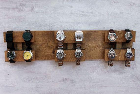 Wall Mounted Watch Display Rack The Watch Block by jamesandgrain