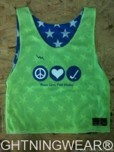 cool Peace Love and Field Hockey Pinnies - Stars and Neon Pinnies - Field hockey Pinnies - Field hockey Reversible Jerseys - Pittsburgh Pinnies