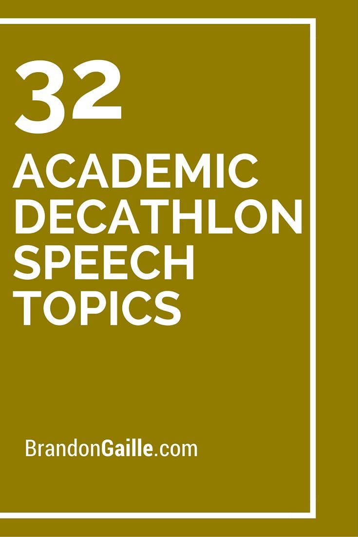 catchy topics for speech