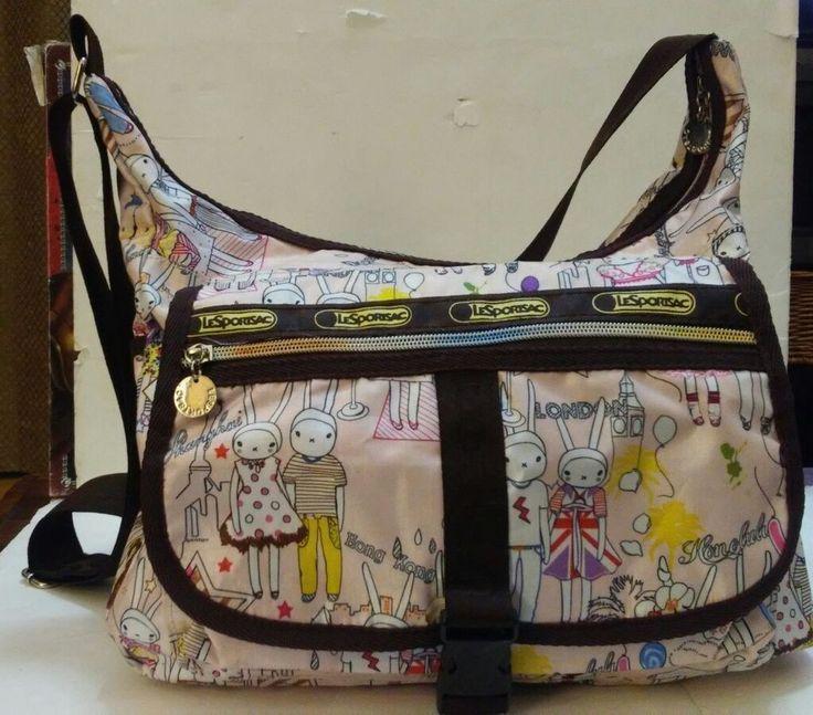 LeSportsac Fifi Lapin Bunny Rabbit Dress Up Print  Purse Tokidoki Crossbody Bag  | eBay