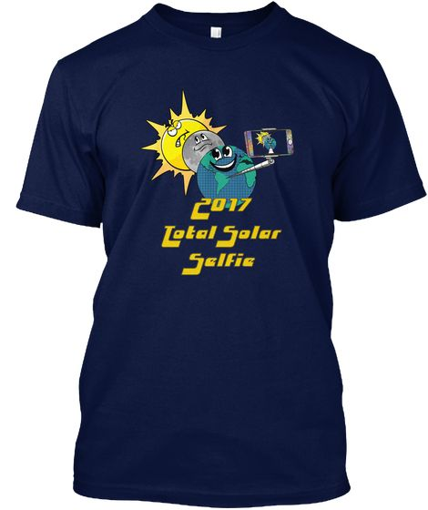 Total Summer Eclipse 2017 First Eclipse Navy T-Shirt Front