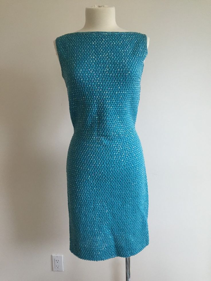A personal favorite from my Etsy shop https://www.etsy.com/ca/listing/259151957/turquoise-knit-dress-vintage-1960s
