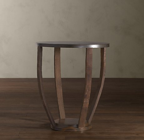 wine barrel side table 795 craftsmen in poland transformed oak staves from reclaimed wine barrels into