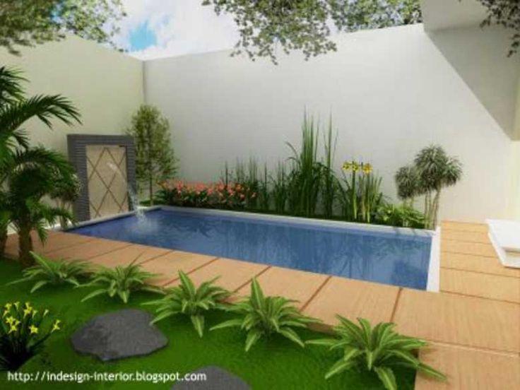 kolam di belakang rumah