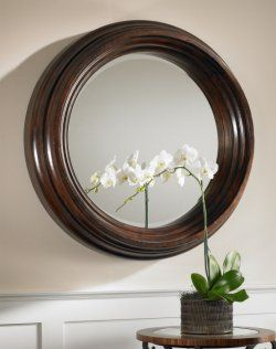Uttermost Cristiano Round Dark Wood Mirror 01901 B With Size 889 X 1024  Round Wood Frame Wall Mirror   Looking For The Ideal Lighting, If In Your  Home Or Y