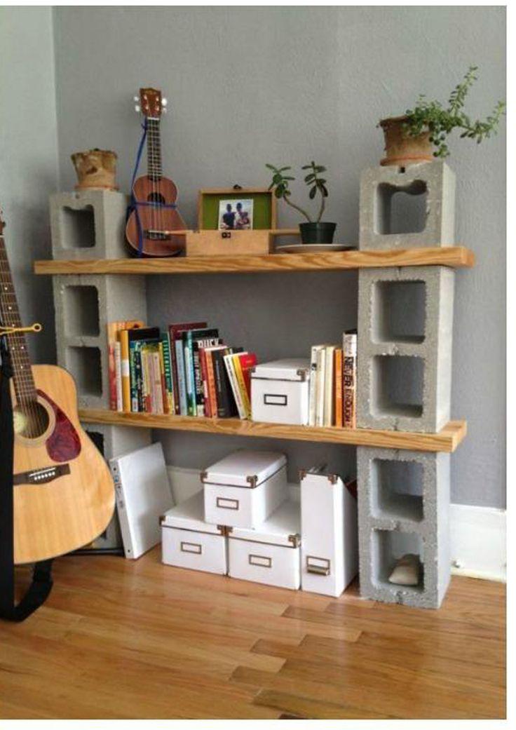 Muebles con bloques de hormigón. | Handbox Craft Lovers | Comunidad DIY, Tutoriales DIY, Kits DIY