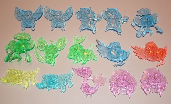 Oshawotts in Blue, Orange, Pink, Yellow, and any other colors!