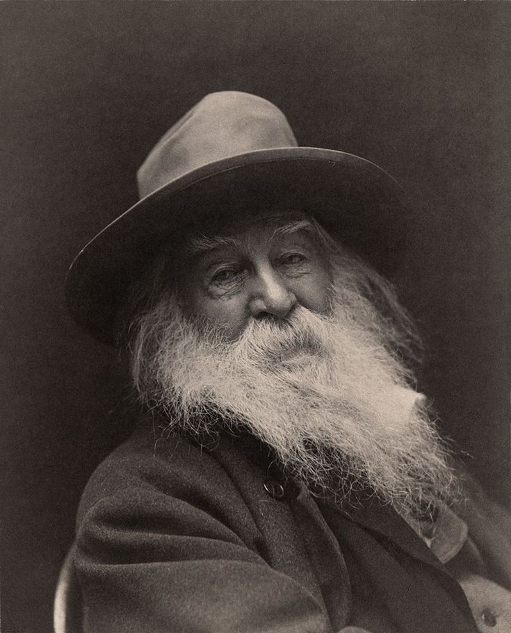 American poet Walt Whitman, New York in 1887.