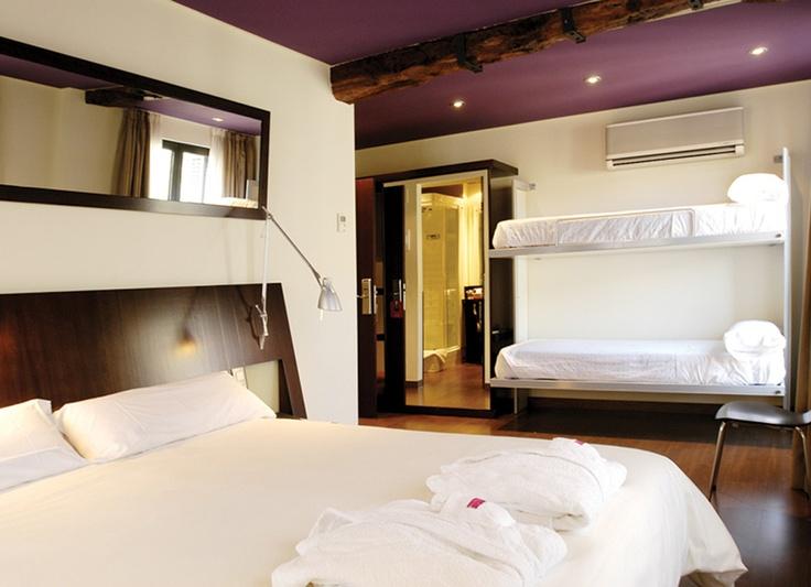 Hotel Petit Palace Arana Bilbao | Hotel urbano | Habitación familiar centro de Bilbao