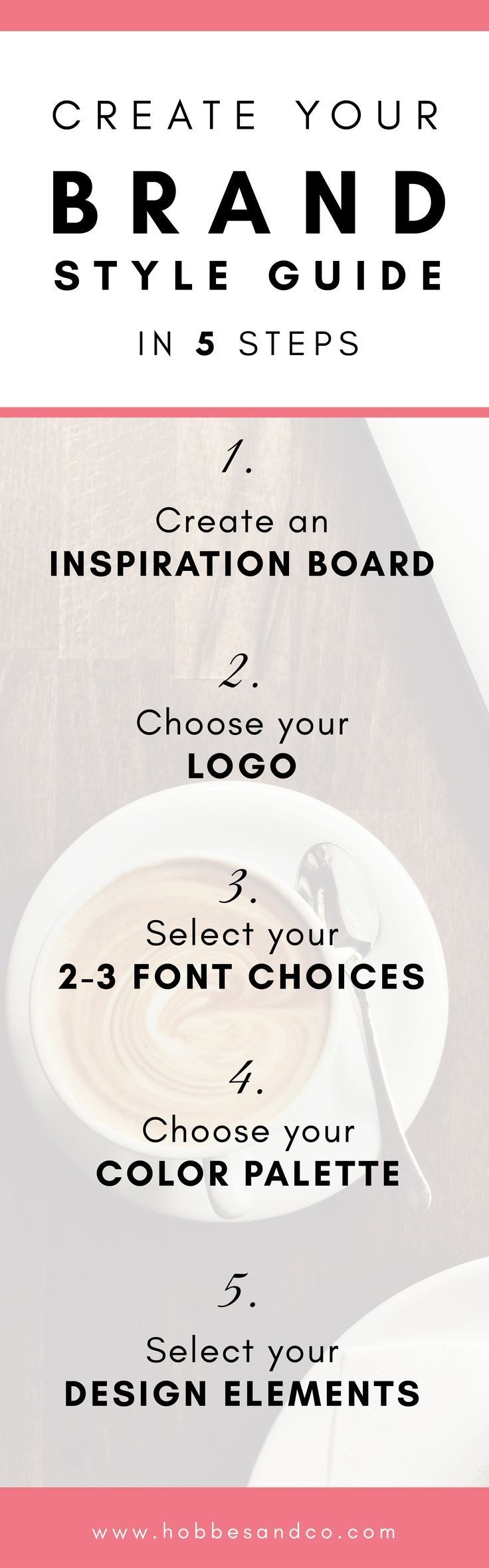 Create your Brand Style Guide in 5 Steps via /claredrake1/