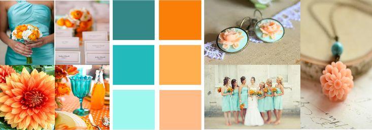 My Color Scheme Burnt Orange Teal With Peach Aqua Future Mrs Griffin Color Schemes