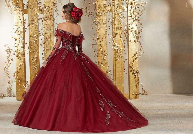 Long Sleeved Quinceanera Dress By Mori Lee Vizcaya 89235
