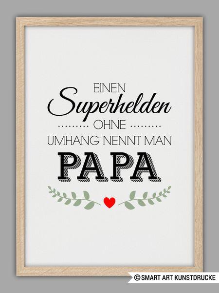 """""""SUPERHELD+PAPA""""+Kunstdruck,+Vatertag+Geschenk+von+SMART+ART+Kunstdrucke+®+auf+DaWanda.com"""