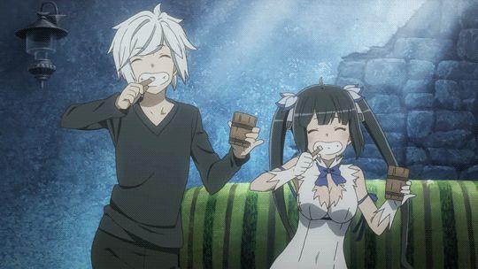 Bell Cranel{Aventurier} et Hestia {Déesse de Bell} ~ Série Manga Anime = DanMachi : Familia Myth ~ MangAnime ~ [✨GiF✨]