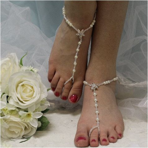 "STARFISH barefoot sandals - rhinestone   wedding, foot jewelry, beach wedding, bridal ""PIN this pretty for later!'"