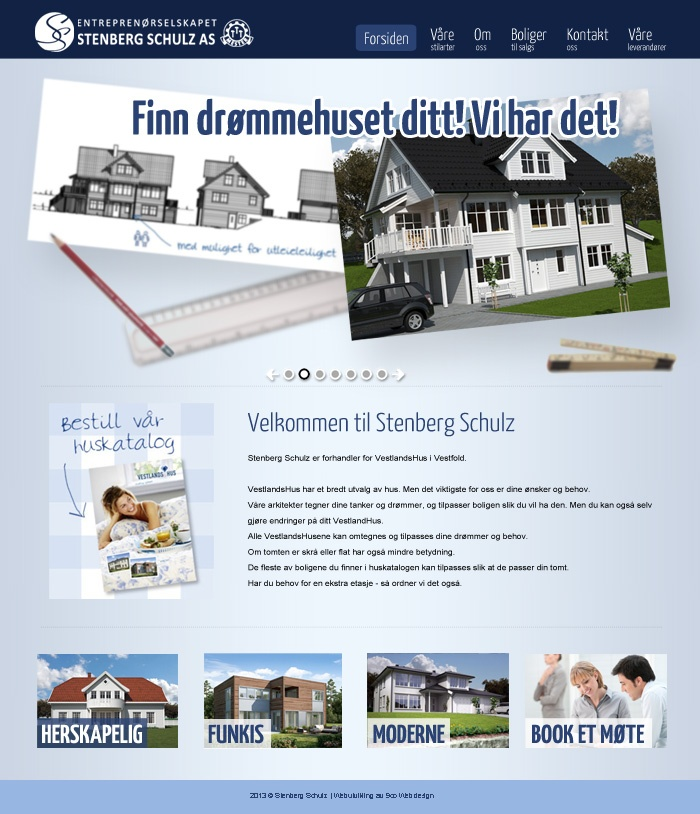 Here is the new homepage we have made for the company Stenberg Schulz AS.