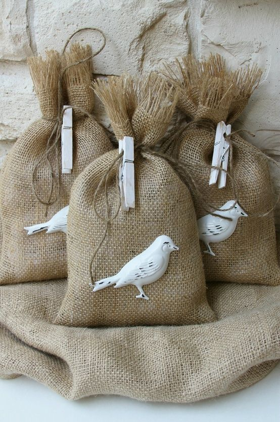 ..Give the gift of seed for the birds to your favorite bird watcher and the lovely bag can be kept for something else!
