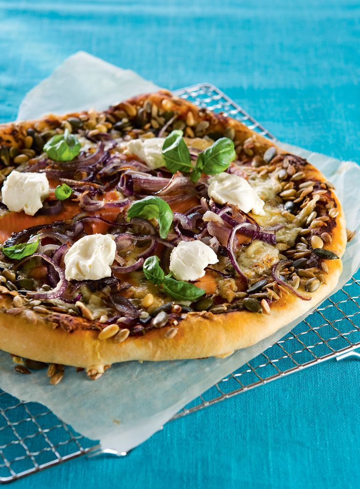 Lohi-tuorejuustopizza | K-Ruoka  #kala