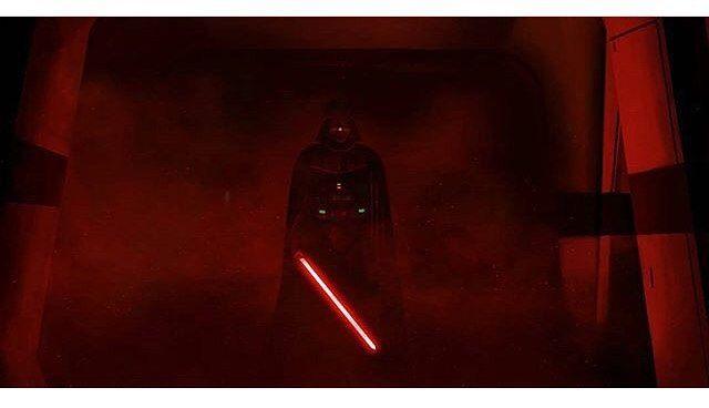 Best part of the movie!! #rogueone #starwars #darthvader #lightsaber