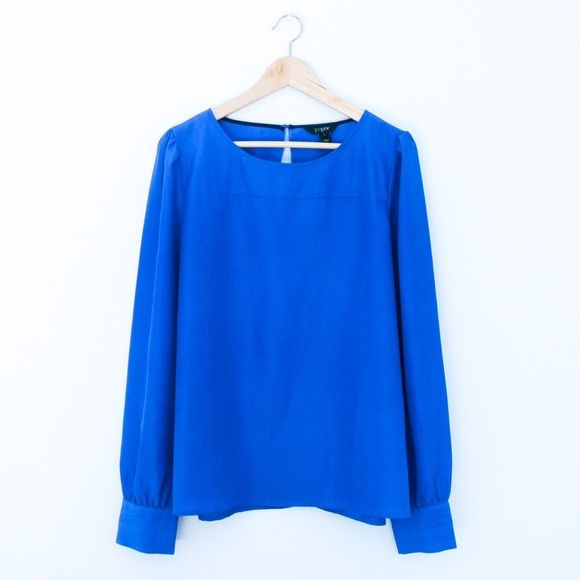J. Crew Royal Blue Top Cobalt blue top in great condition. No signs of wear. J. Crew Tops Blouses