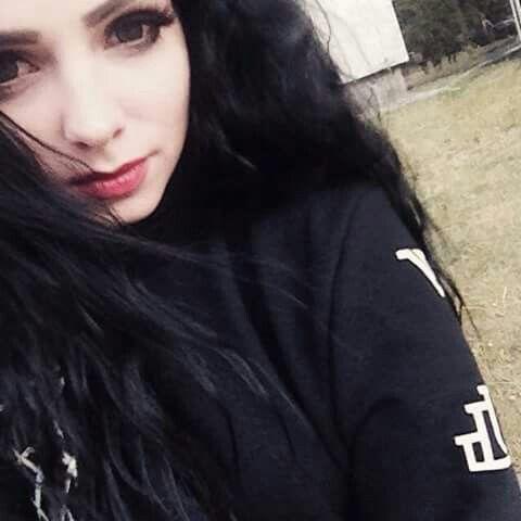 #black #long #hair #dark #eyes #black #outfit