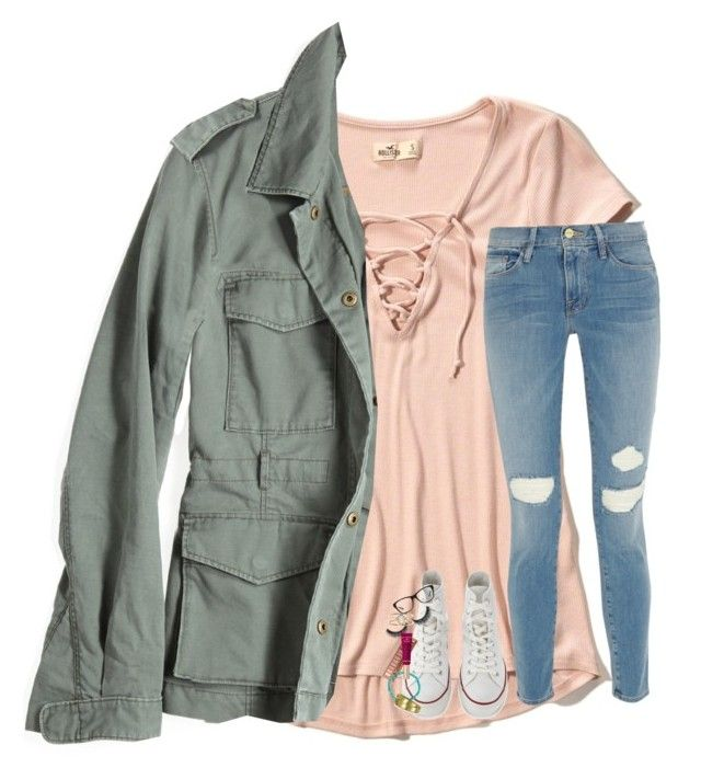 """""""now all i need is to be away from u"""" by lindsaygreys ❤ liked on Polyvore featuring Hollister Co., G1, Frame, Converse, Luis Morais, Tory Burch, Ralph Lauren and LUMO"""