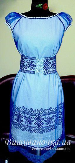 Платье с вышивкой женское 3013