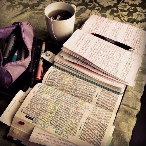 Bible study...I try to do this in the mornings. ❤️
