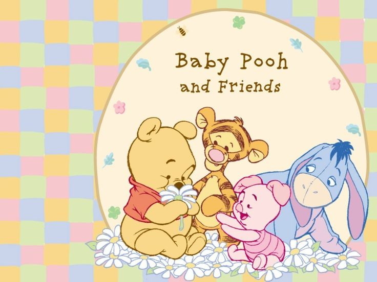 33 best images about winnie the pooh holiday wallpapers on for Baby pooh and friends wall mural
